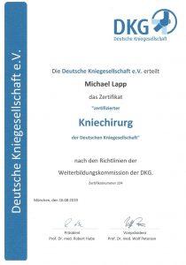 Deutsche-kniegesellschaft-zertifikat-michael-lapp